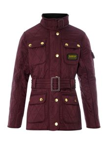 Barbour Girls 4 Pocket Belted Quilted Jacket