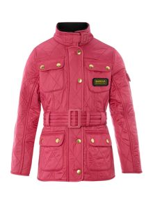 Girls International 4 Pocket Belted Quilted Jacke