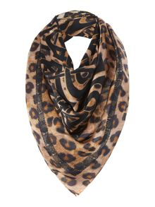 Photo Leopard Logo Satin Square