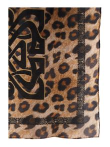 Biba Photo Leopard Logo Satin Square