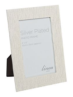 Shiny silver beaded border frame 4x6