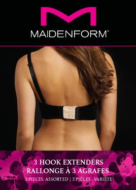 Maidenform Accessories Maidenform Accessories 3 Hook bra extender, Multi-Coloured