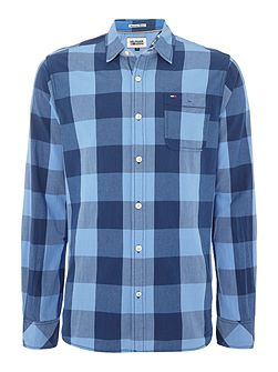 Faber Check Slim Fit Long Sleeve Shirt