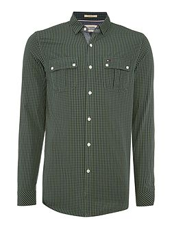 Fisk Check Slim Fit Long Sleeve Shirt