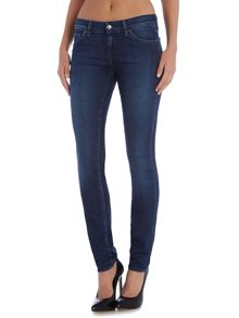 7 For All Mankind Exclusive cristen mid rise skinny mid indigo