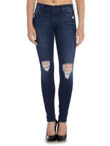 7 For All Mankind Skinny mid rise jean in urban chic distressed
