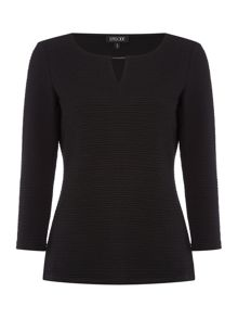 Episode Textured knit jumper with metal detail