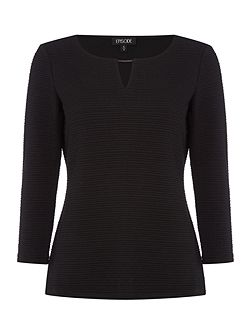 Textured knit jumper with metal detail