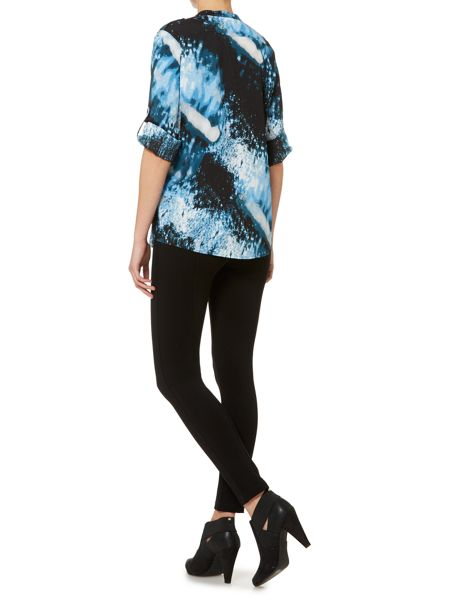 Episode Abstract print blouse with 3/4 sleeve