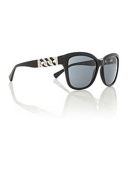 HC8156Q black female square sunglasses