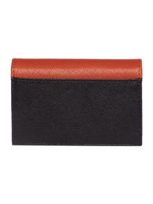 Orange travel card holder