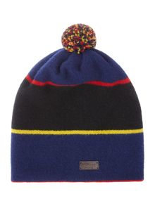 Boys Striped Bobble Hat