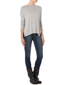 Curved Side Knit Top