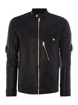 Revend 3D Slim Fit Biker Collar Jacket