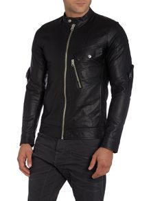 G-Star Revend 3D Slim Fit Biker Collar Jacket