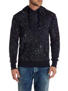 Evin Tapered Fit Paint Splatter Hoodied Sweat