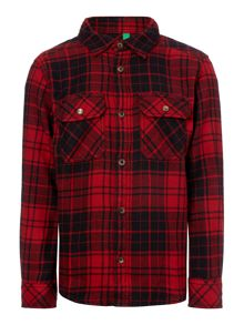 Boys Flannel Checked Shirt