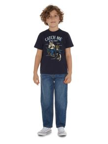 Howick Junior Boys Monkey On A Motorcycle Graphic Tee