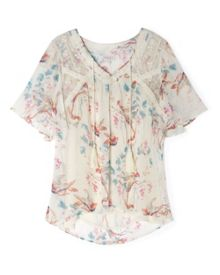 Song Bird Print Blouse