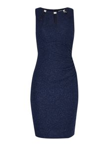 Eliza J Fitted dress with cut out neck