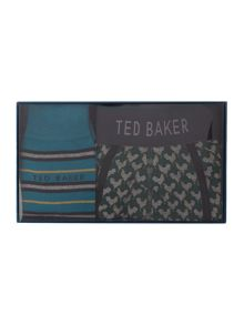 Ted Baker Patterned boxer and socks gift set