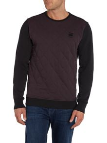G-Star Kaiden Tapered Fit Quited Crew Neck Sweat