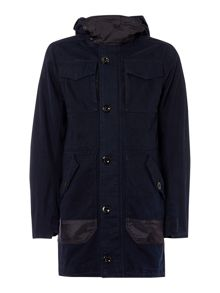 G-Star MFD Cotton Hooded Zip Up Parker Jacket