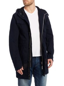 MFD Cotton Hooded Zip Up Parker Jacket