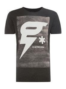 G-Star Tomeo Long Regular Fit Graphic Crew Neck T-Shirt