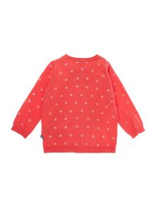 name it Girls Heart And Cat Print Cardigan