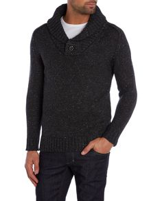 G-Star Bik Slim Fit Shawl Neck Flecked Jumper