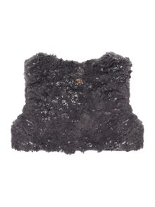 name it Girls Fauxfur Vest