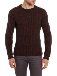 Textured Crew Neck Pull Over Jumpers