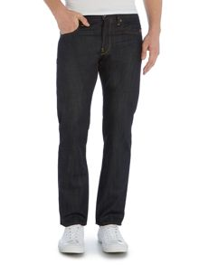 G-Star Attacc Straight Dark Wash Mid Rise Jeans