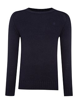 Bick Slim Fit Ribbed Crew Neck Knit Jumper