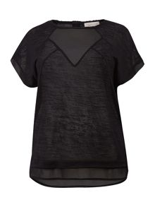 Plus size sporty chiffon tee
