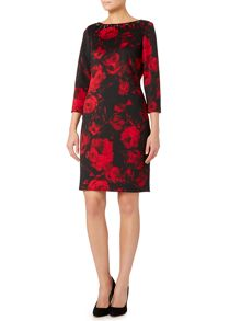 Eliza J Long sleeve floral printed dress
