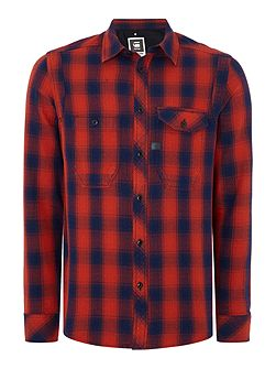 Wolker Slim Fit Long Sleeve Check Shirt