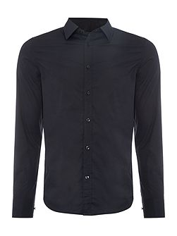 Plain Slim Fit Long Sleeve Classic Collar Shirt