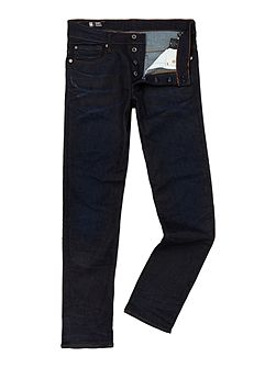 3301 Tapered Dark Aged Denim Jeans