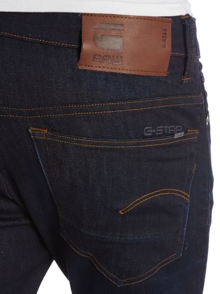 G-Star 3301 Tapered Dark Aged Denim Jeans