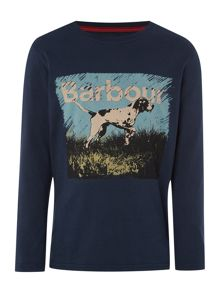 Boys Long Sleeved Tshirt With Pointer Dog Graphic