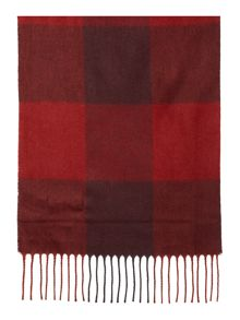 Ted Baker Large block check Knit Scarf