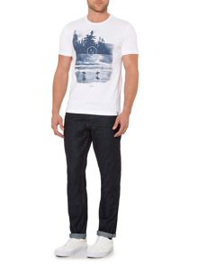 Criminal Big Sur Graphic Crew Neck Slim Fit T-Shirt