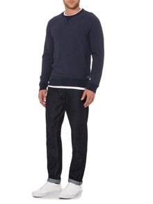 Criminal Ben Stripe Crew Neck Jumper