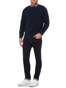 Criminal Maddox Textured Crew Neck Pull Over Jumper