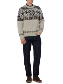 Army & Navy Conifer Crew Neck Jumper