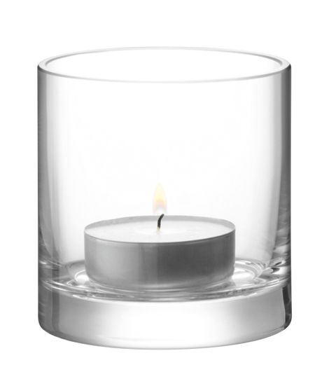 LSA Column Tealight Holder H10 x Ø10cm Clear