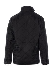 Boys Classic 4 Pocket Quilted Jacket In Black