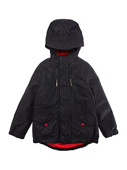 Boys Nylon Fixed Hood Coat